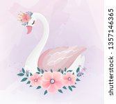 Cute Little Princess Swan With...