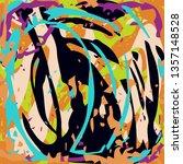 graffiti beautiful abstract... | Shutterstock . vector #1357148528