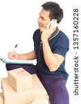 asian man write document...   Shutterstock . vector #1357160228