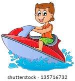 water sport theme image 3  ... | Shutterstock .eps vector #135716732