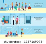 a set of banners with airport... | Shutterstock .eps vector #1357169075