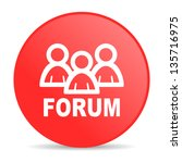forum red circle web glossy icon   Shutterstock . vector #135716975