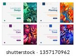 flowers landing page templates... | Shutterstock .eps vector #1357170962