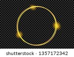 gold shiny glowing vintage... | Shutterstock .eps vector #1357172342
