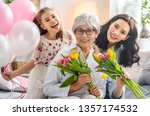 happy mother's day  child... | Shutterstock . vector #1357174532