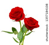 Red Rose Flowers Isolated On...