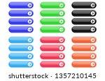 interface buttons. set of... | Shutterstock . vector #1357210145
