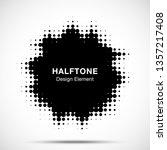 halftone blot frame. abstract...   Shutterstock .eps vector #1357217408