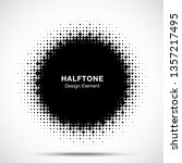 halftone circle frame abstract...   Shutterstock .eps vector #1357217495