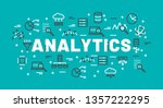 the words analytics surrounded... | Shutterstock .eps vector #1357222295