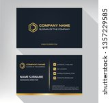 business model name card luxury ... | Shutterstock .eps vector #1357229585