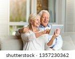 senior couple using digital... | Shutterstock . vector #1357230362