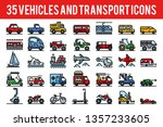 35 vehicle and transport... | Shutterstock .eps vector #1357233605