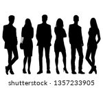 set of vector silhouettes of ... | Shutterstock .eps vector #1357233905