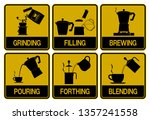 single color icon of brewed... | Shutterstock .eps vector #1357241558