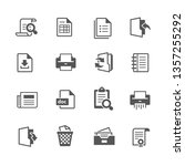 documents vector icon set | Shutterstock .eps vector #1357255292