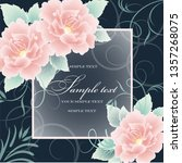 wedding card or invitation with ... | Shutterstock .eps vector #1357268075