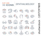 set of line icons of... | Shutterstock . vector #1357297805