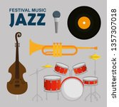 set jazz music day with music...   Shutterstock .eps vector #1357307018