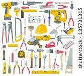 tools set | Shutterstock .eps vector #135731315