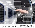 businessman working on digital... | Shutterstock . vector #1357323422