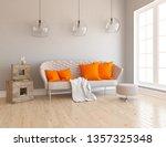 idea of a beige scandinavian... | Shutterstock . vector #1357325348