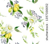 watercolor seamless spring... | Shutterstock . vector #1357330052