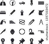 solid vector icon set   brick...   Shutterstock .eps vector #1357333472