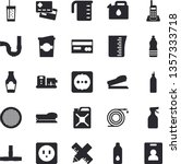 solid vector icon set   pipes...   Shutterstock .eps vector #1357333718