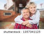 close up portrait of an elderly ... | Shutterstock . vector #1357341125