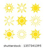 sun icon set on white background | Shutterstock .eps vector #1357341395