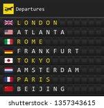 airplane departures destination ... | Shutterstock .eps vector #1357343615