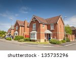 pretty newly built homes and... | Shutterstock . vector #135735296