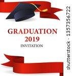 graduation 2019 invitation... | Shutterstock .eps vector #1357356722