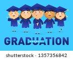 graduation  hooray banner... | Shutterstock .eps vector #1357356842