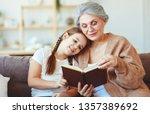 happy family grandmother...   Shutterstock . vector #1357389692