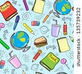 seamless school background ... | Shutterstock . vector #135739232