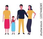 family and kids cartoons... | Shutterstock .eps vector #1357448285