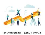 vector illustration a group of... | Shutterstock .eps vector #1357449935