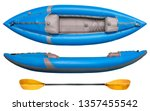 blue inflatable whitewater one... | Shutterstock . vector #1357455542