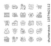 discount line icons. set of... | Shutterstock .eps vector #1357462112