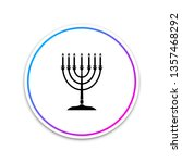 hanukkah menorah icon isolated... | Shutterstock .eps vector #1357468292