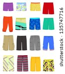 set of male shorts and ... | Shutterstock .eps vector #135747716