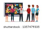 business team man and woman... | Shutterstock .eps vector #1357479335