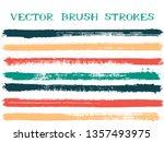 funky ink brush strokes... | Shutterstock .eps vector #1357493975