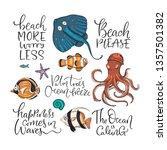 ocean tropical exotic vector... | Shutterstock .eps vector #1357501382