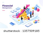 isometric office with financial ... | Shutterstock .eps vector #1357509185