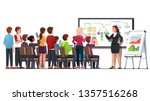 business class teacher  ... | Shutterstock .eps vector #1357516268