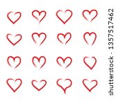 heart hand drawn icons set... | Shutterstock .eps vector #1357517462