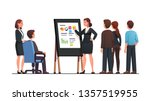 analyst manager woman... | Shutterstock .eps vector #1357519955